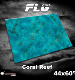 """Frontline-Gaming FLG Mats: Coral Reef  44"""" x 60"""""""
