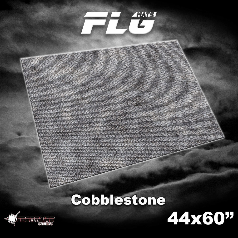 "Frontline-Gaming FLG Mats: Civic Cobblestone  44"" x 60"""