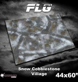 "Frontline-Gaming FLG Mats: Snow Cobblestone Village  44"" x 60"""
