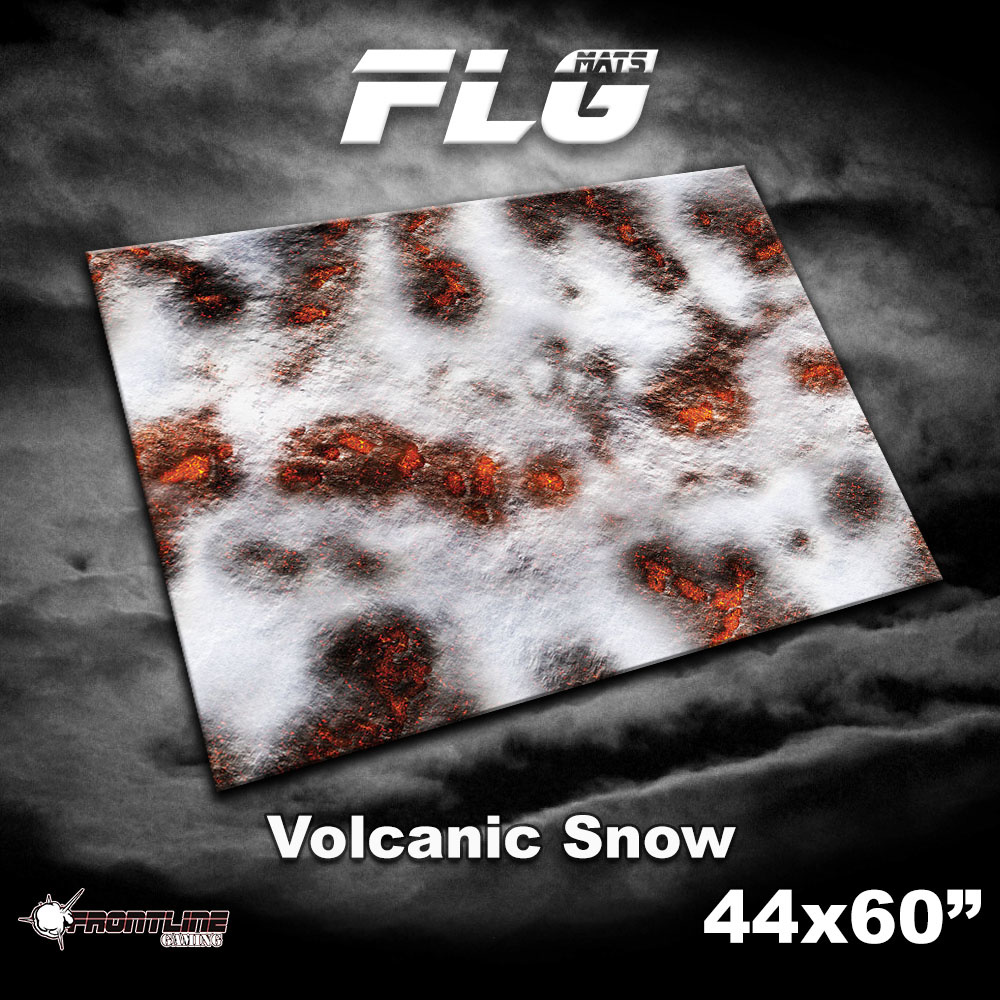 "Frontline-Gaming FLG Mats: Volcanic Snow 44"" x 60"""