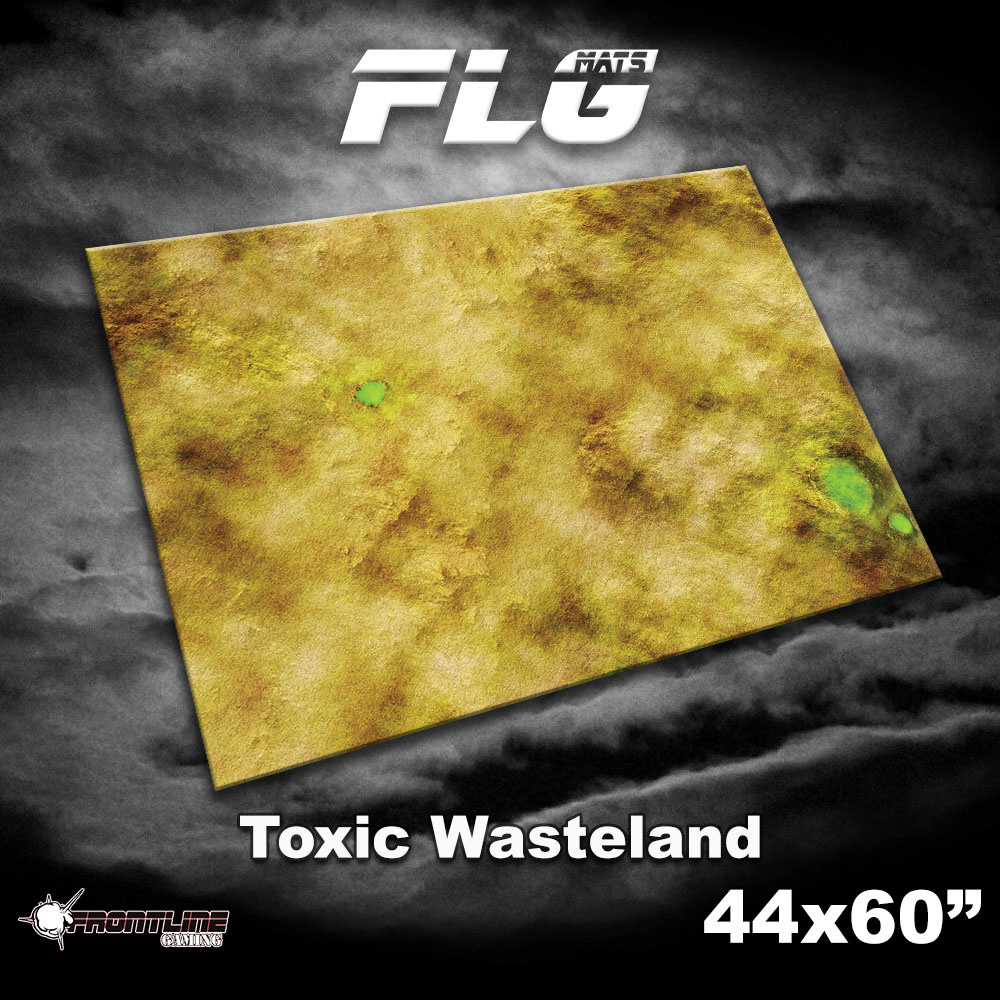 """Frontline-Gaming FLG Mats: Toxic Desert 44"""" x 60"""""""
