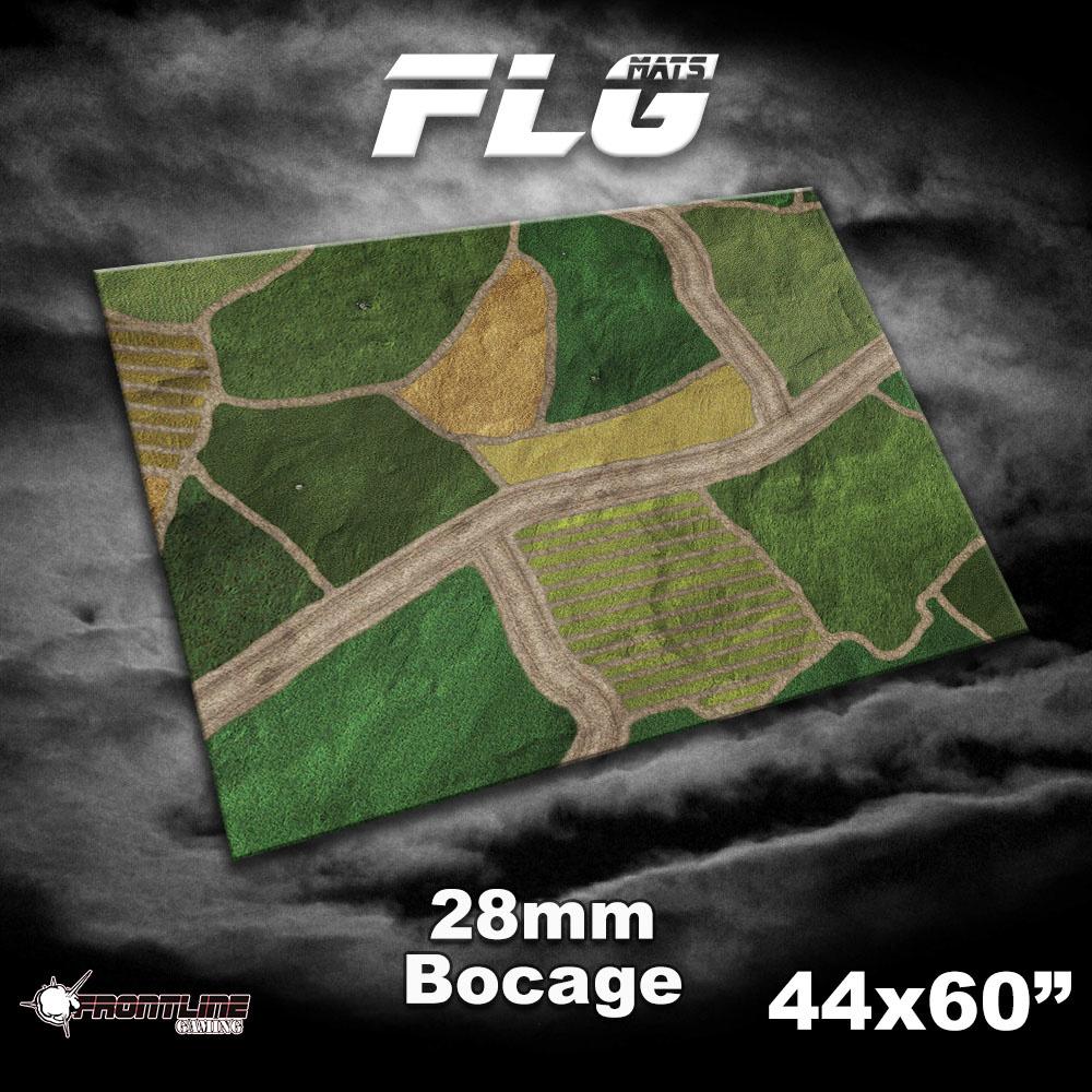 """Frontline-Gaming FLG Mats: 28mm Bocage 44"""" x 60"""""""