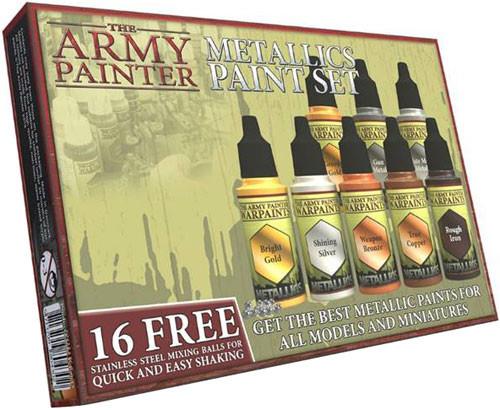 The Army Painter Warpaint: Metallics Paint Set (8 colors)