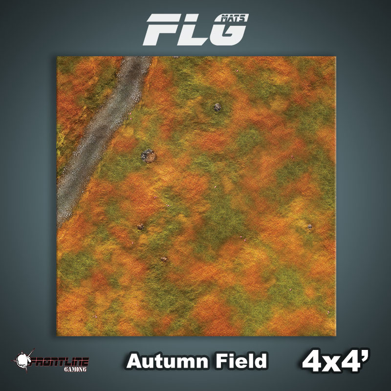 Frontline-Gaming FLG Mats: Autumn Field 4x4'