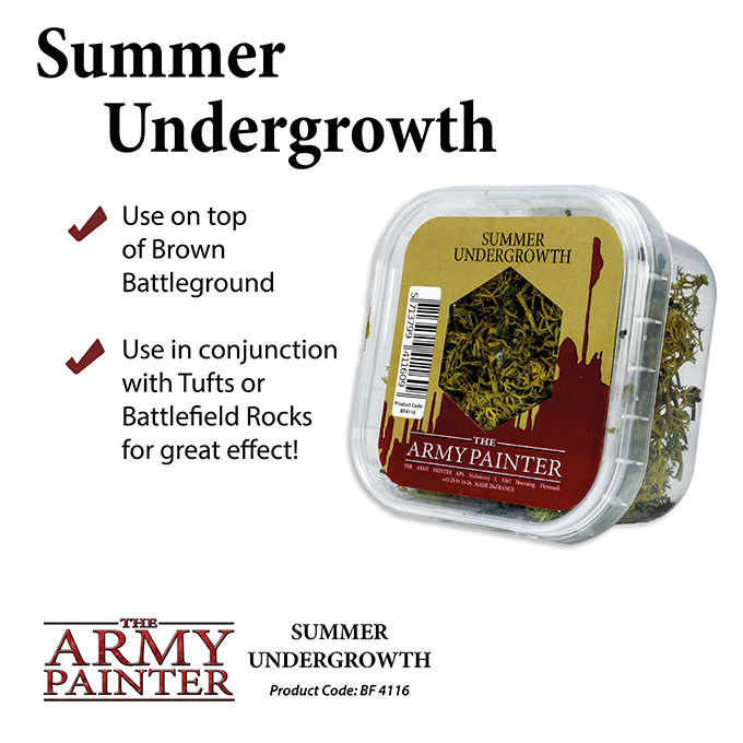 The Army Painter Battlefield: Basing: Summer Undergrowth