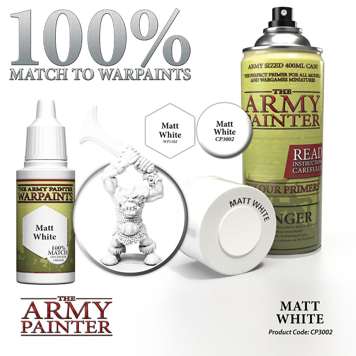 The Army Painter Primer: Base Matt White