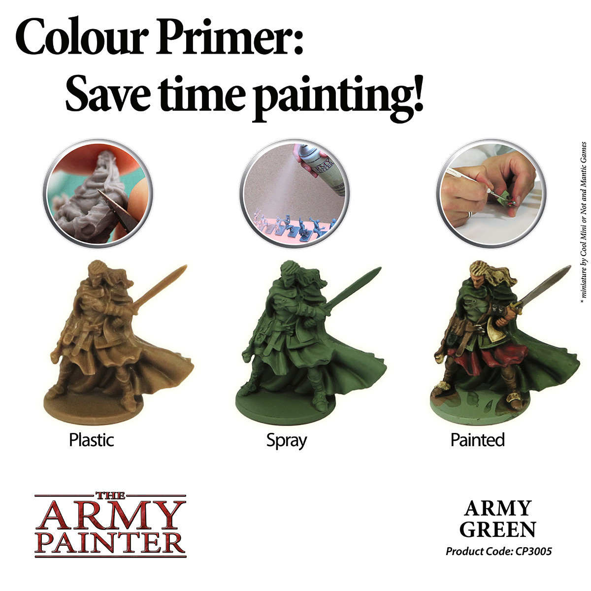 The Army Painter Primer: Colour Army Green