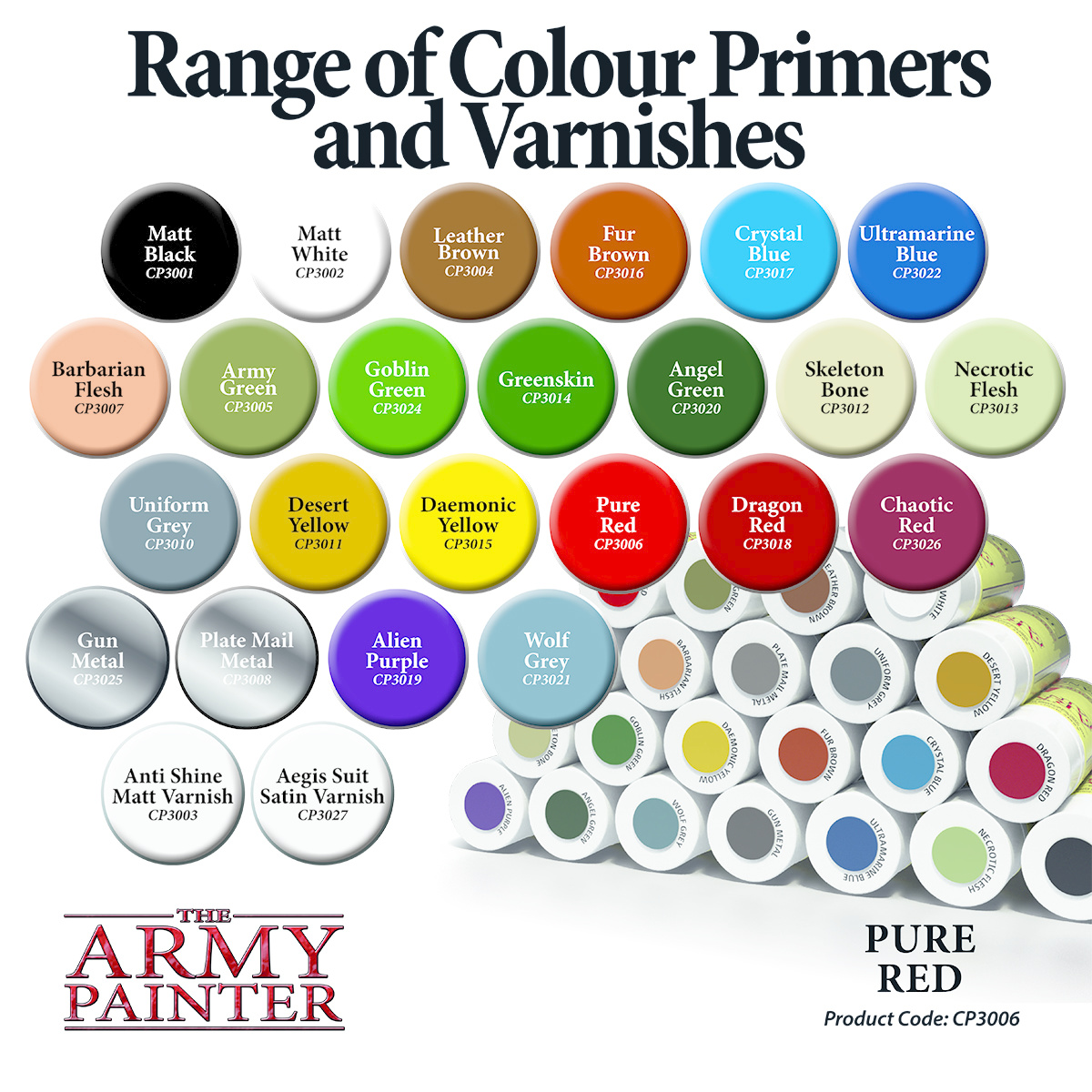 The Army Painter Primer: Colour Pure Red