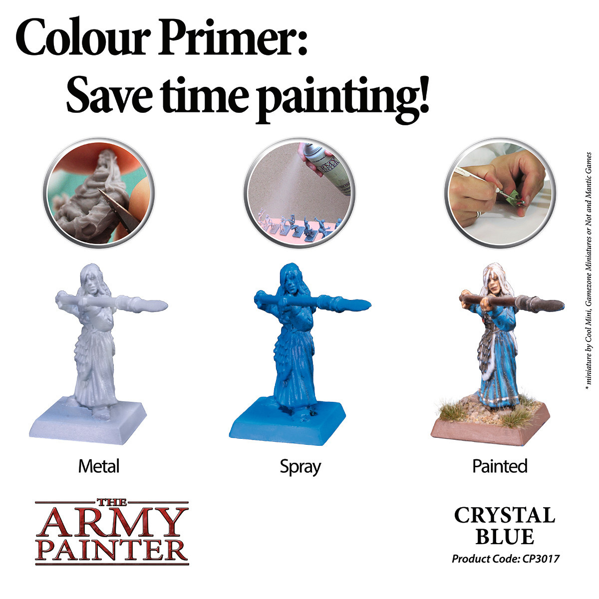 The Army Painter Primer: Colour Crystal Blue