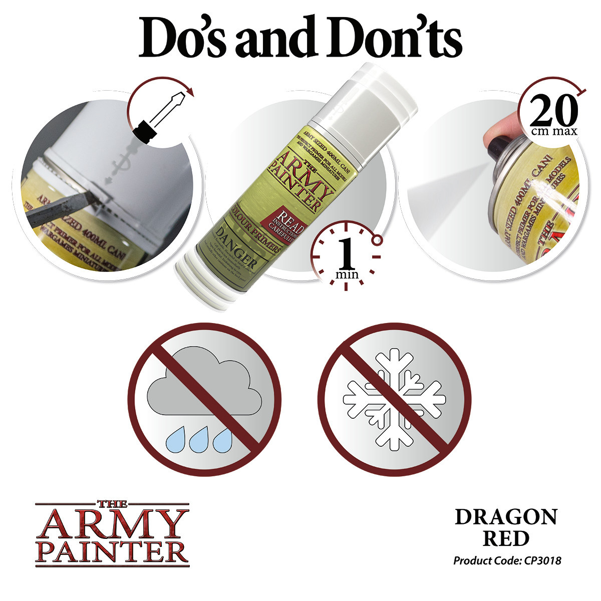 The Army Painter Primer: Colour Dragon Red