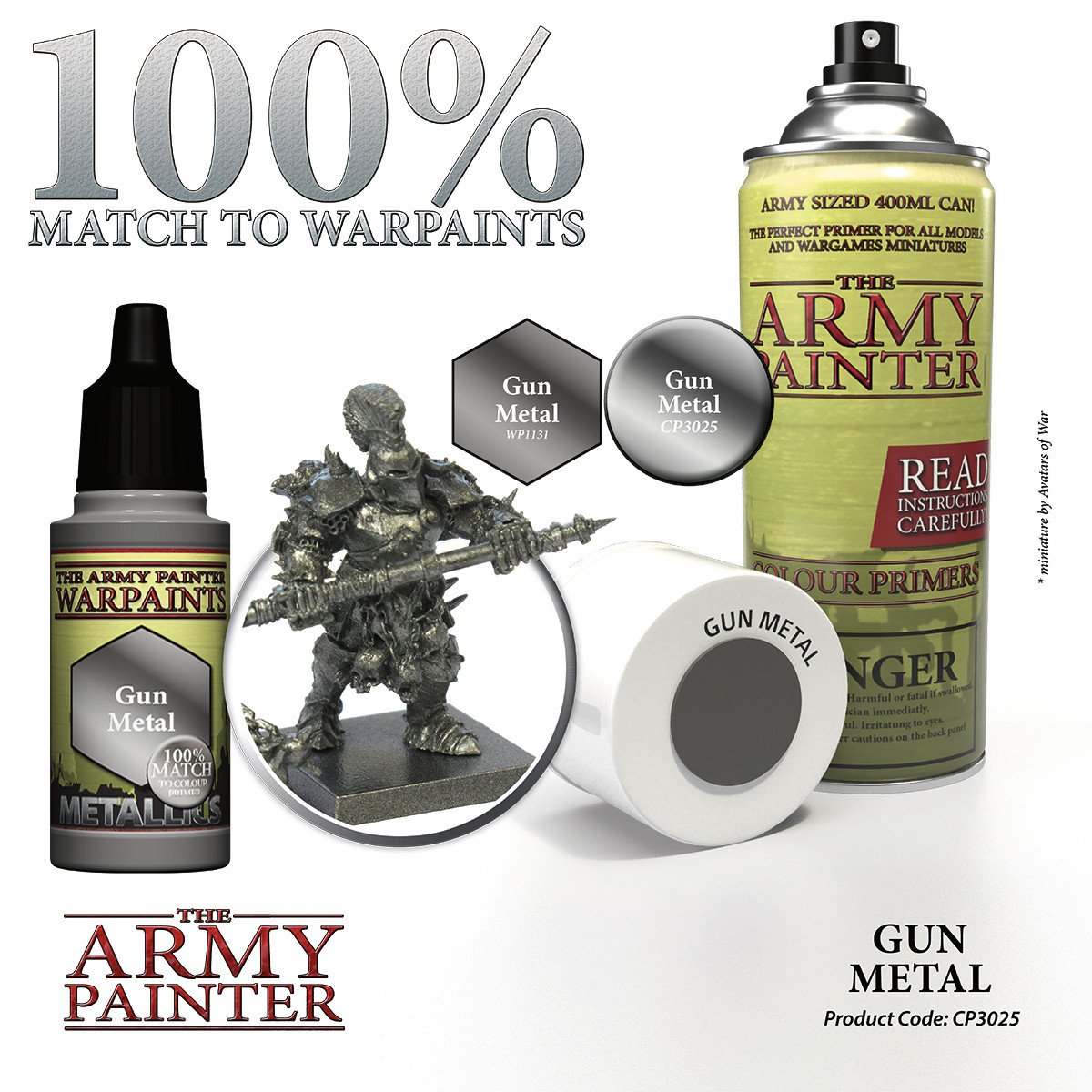 The Army Painter Primer: Colour Gun Metal