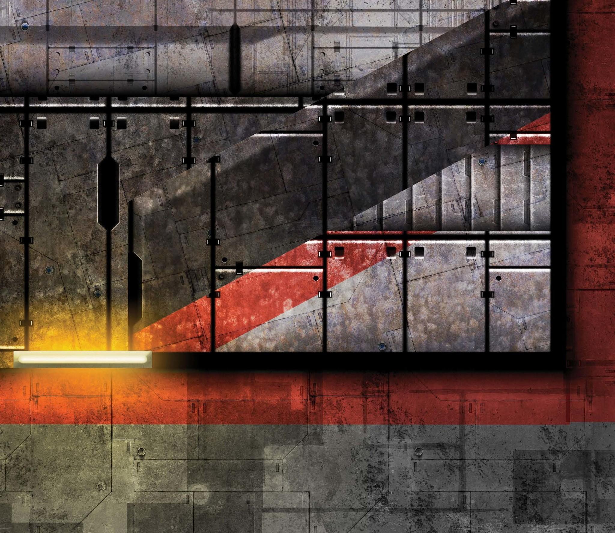 Frontline-Gaming FLG Mats: Space Dock Alpha 6x3'