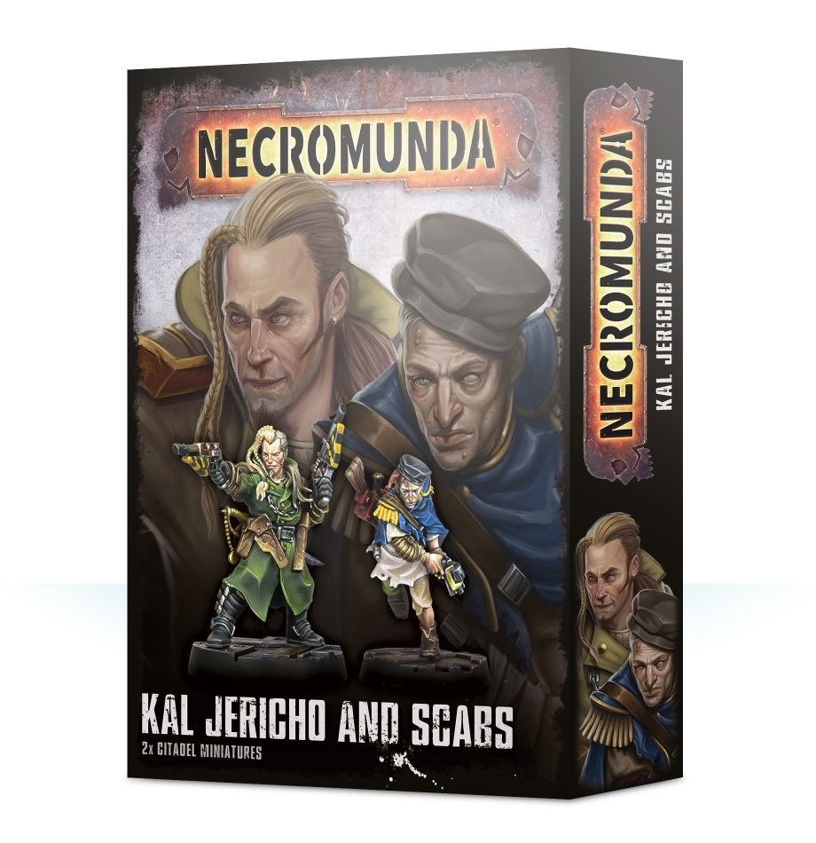 Games-Workshop Necromunda Kal Jericho And Scabs