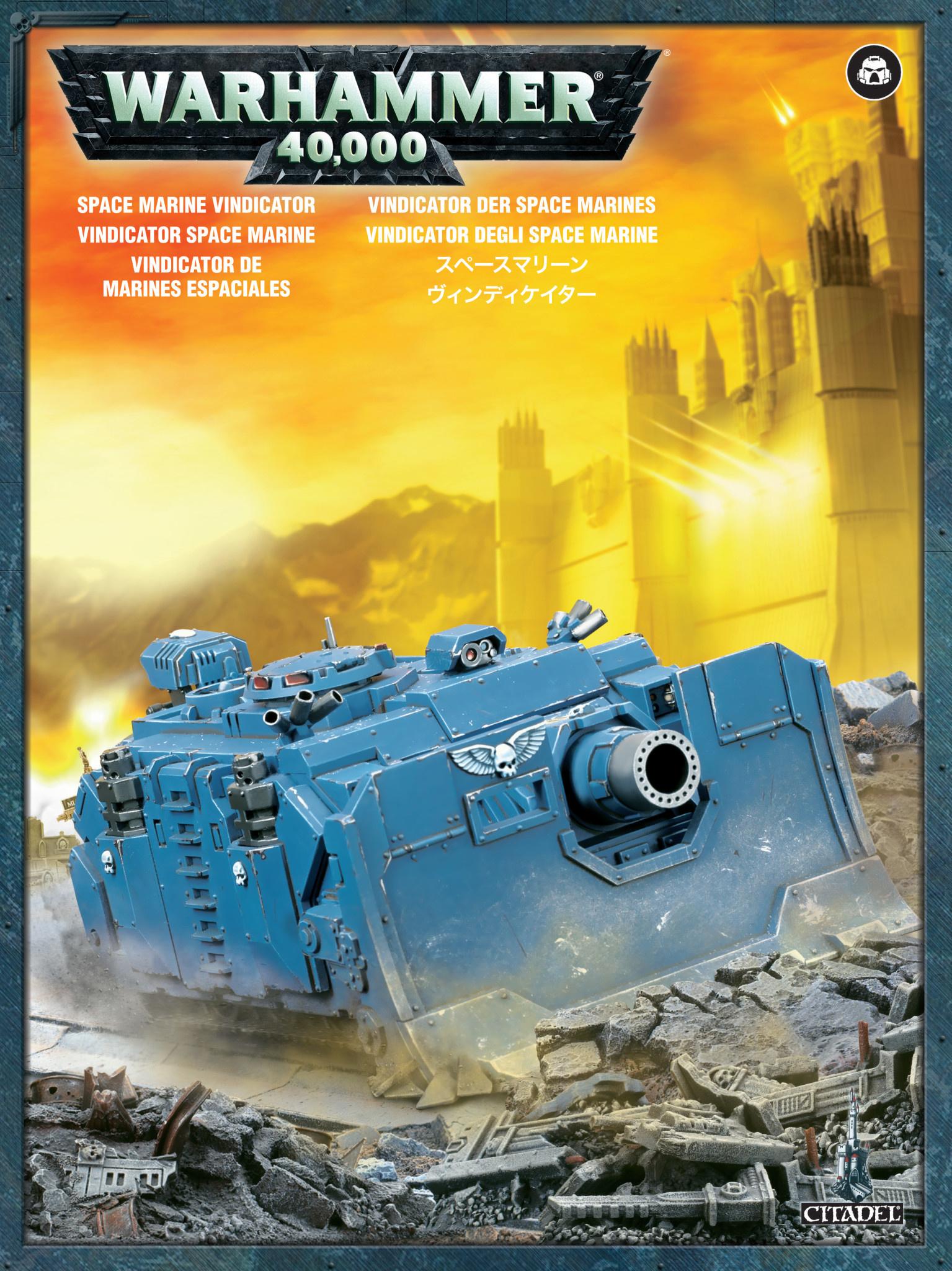 Games-Workshop Space Marine Vindicator