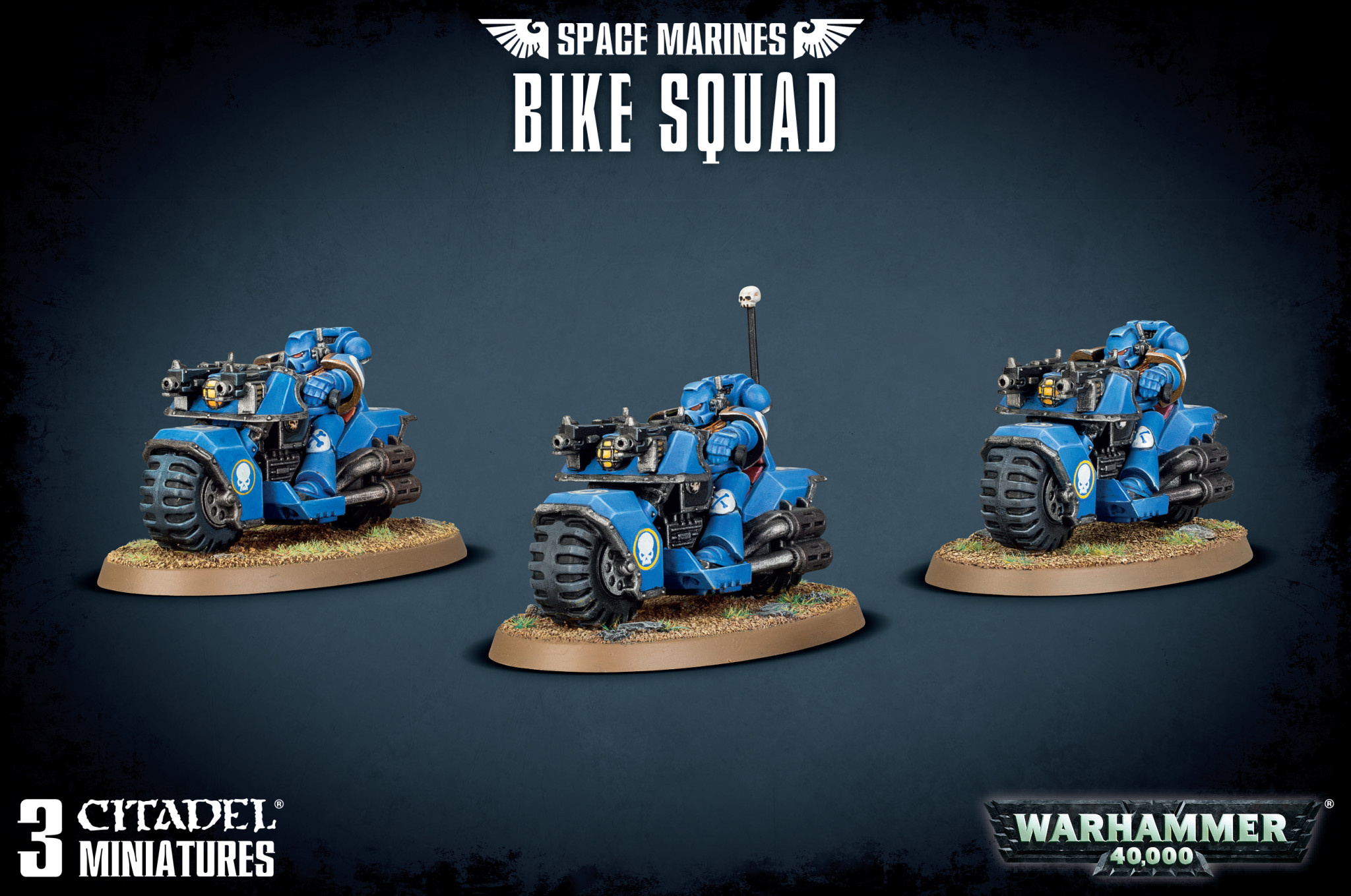 Games-Workshop Space Marine Bike Squad