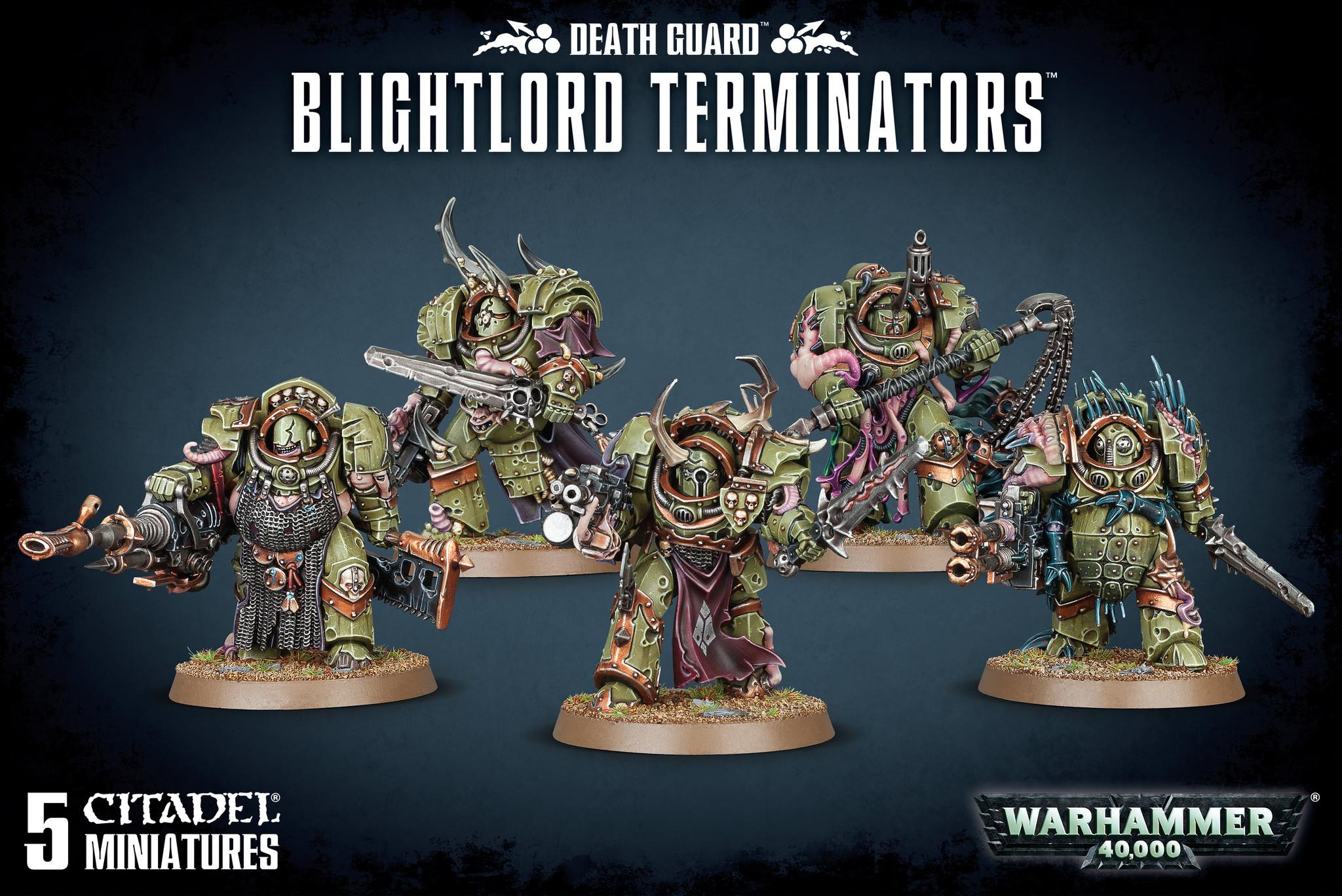 Games-Workshop Death Guard Blightlord Terminators