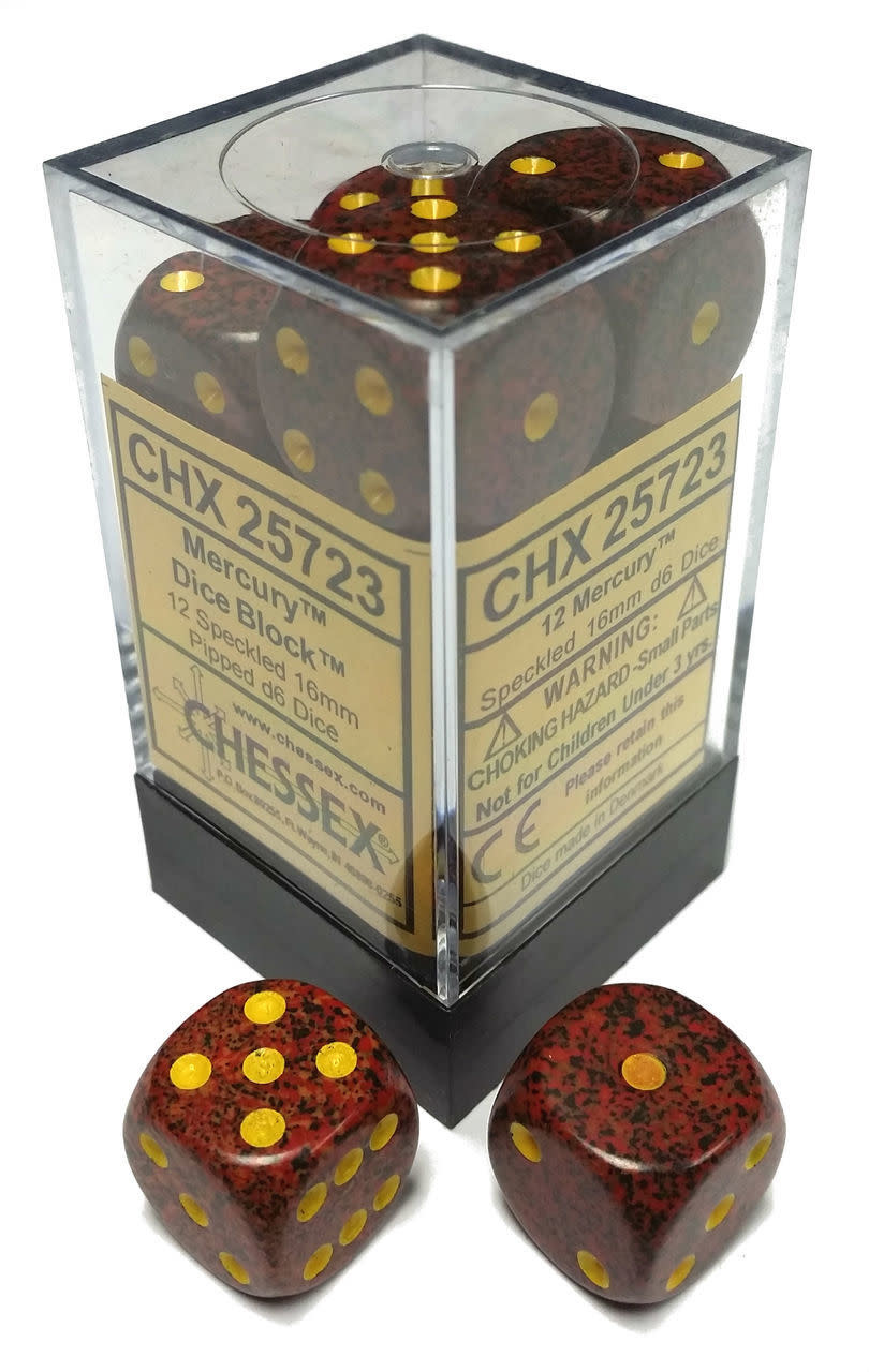 Chessex Chessex Speckled Mercury Set of 12 d6 Dice