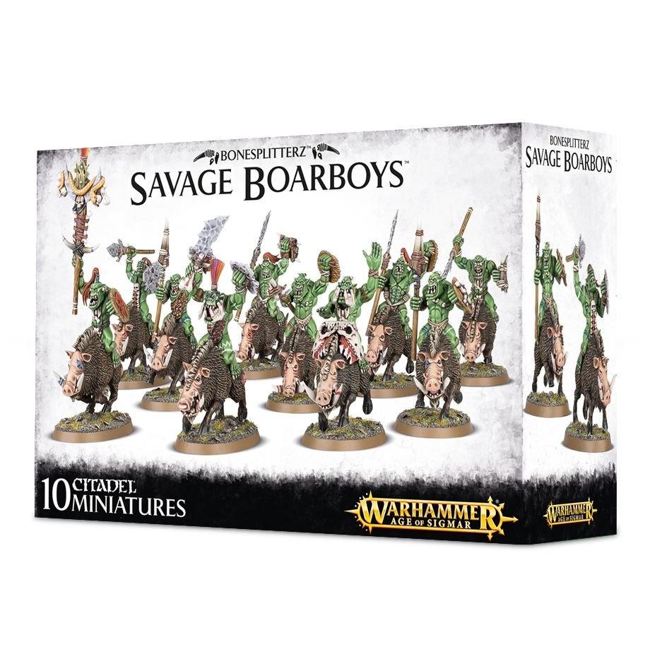 Games-Workshop Bonesplitterz Savage Boarboys