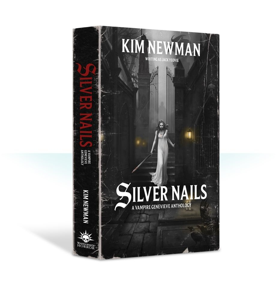 Black Library Silver Nails