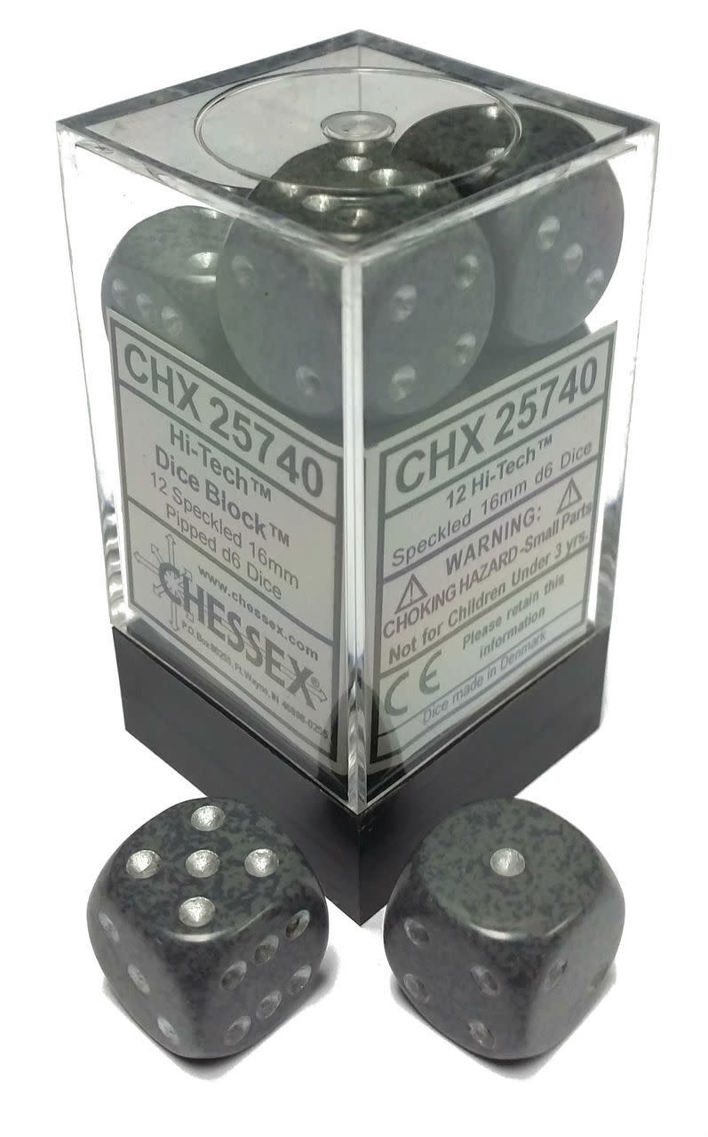 Chessex Chessex Speckled Hi-Tech Set of 12 d6 Dice