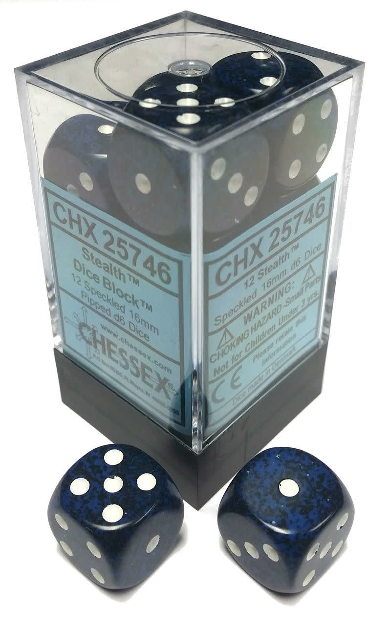 Chessex Chessex Speckled Stealth Set of 12 d6 Dice
