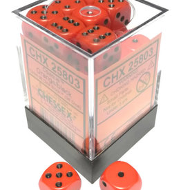 Chessex Chessex Opaque Orange w/Black Set of 36 d6 Dice