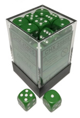 Chessex Chessex Opaque Green w/White Set of 36 d6 Dice