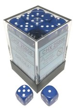 Chessex Chessex Opaque Blue w/White Set of 36 d6 Dice