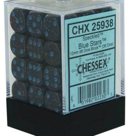 Chessex Chessex Speckled Blue Stars Set of 36 d6 Dice