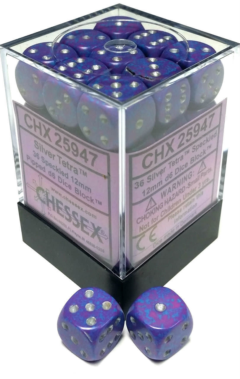 Chessex Chessex Speckled Silver Tetra Set of 36 d6 Dice