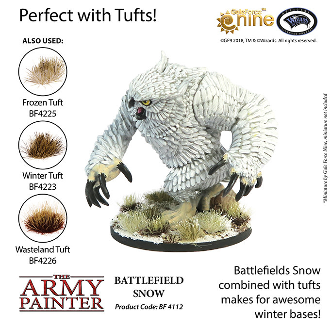 The Army Painter Battlefield: Basing: Battlefield Snow