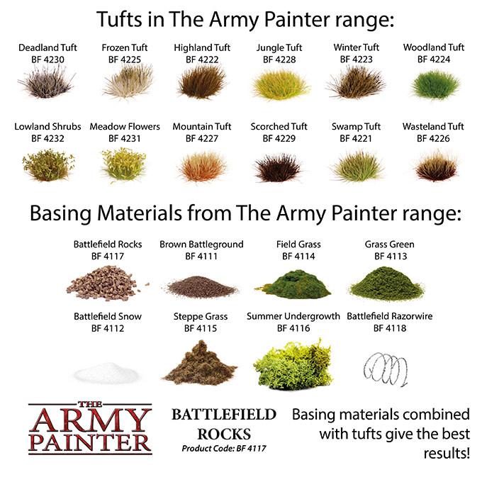 The Army Painter Battlefield: Basing: Battlefield Rocks