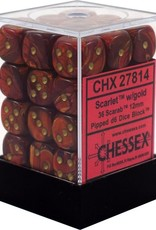 Chessex Chessex Scarab Scarlet/Gold 36 D6 Dice