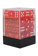 Chessex Chessex Translucent Orange/White Set of 36 D6 Dice