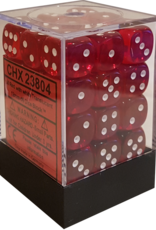 Chessex Chessex Translucent Red/White Set of 36 D6 Dice