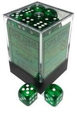 Chessex Chessex Translucent Green/White Set of 36 D6 Dice