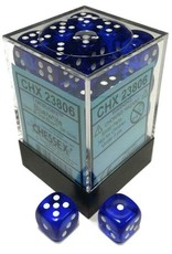 Chessex Chessex Translucent Blue/White Set of 36 D6 Dice