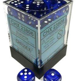 Chessex Chessex Translucent Blue/White Set of 36 D6 Dice