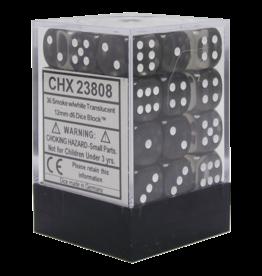 Chessex Chessex Translucent Smoke/White Set of 36 D6 Dice