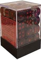 Chessex Chessex Translucent Smoke/Red Set of 36 D6 Dice