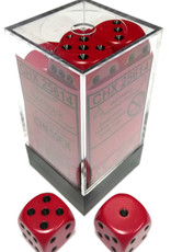 Chessex Chessex Opaque Red/Black Set of 12 D6 Dice