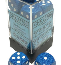 Chessex Chessex Speckled Water Set of 12 D6 Dice