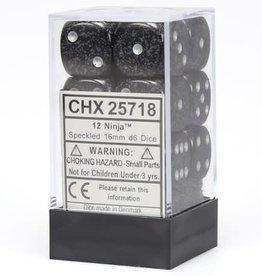 Chessex Chessex Speckled Ninja Set of 12 D6 Dice