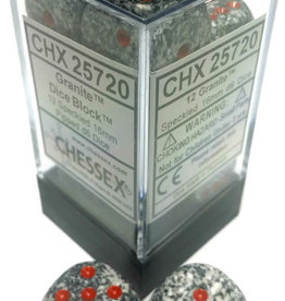 Chessex Chessex Speckled Granite Set of 12 D6 Dice