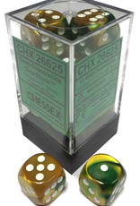 Chessex Chessex Gemini Gold-Green/White Set of 12 D6 Dice