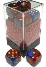 Chessex Chessex Gemini Blue-Red/Gold Set of 12 D6 Dice