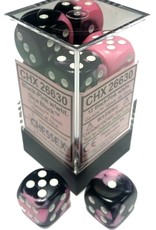Chessex Chessex Gemini Black-Pink/White Set of 12 D6 Dice