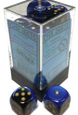 Chessex Chessex Gemini Black-Blue/Gold Set of 12 D6 Dice