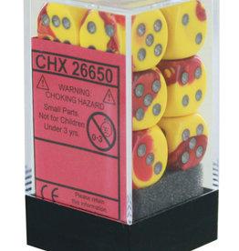 Chessex Chessex Gemini Red-Yellow/White Set of 12 D6 Dice