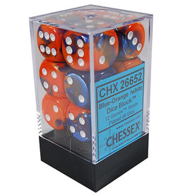 Chessex Chessex Gemini Blue-Orange/White Set of 12 D6 Dice